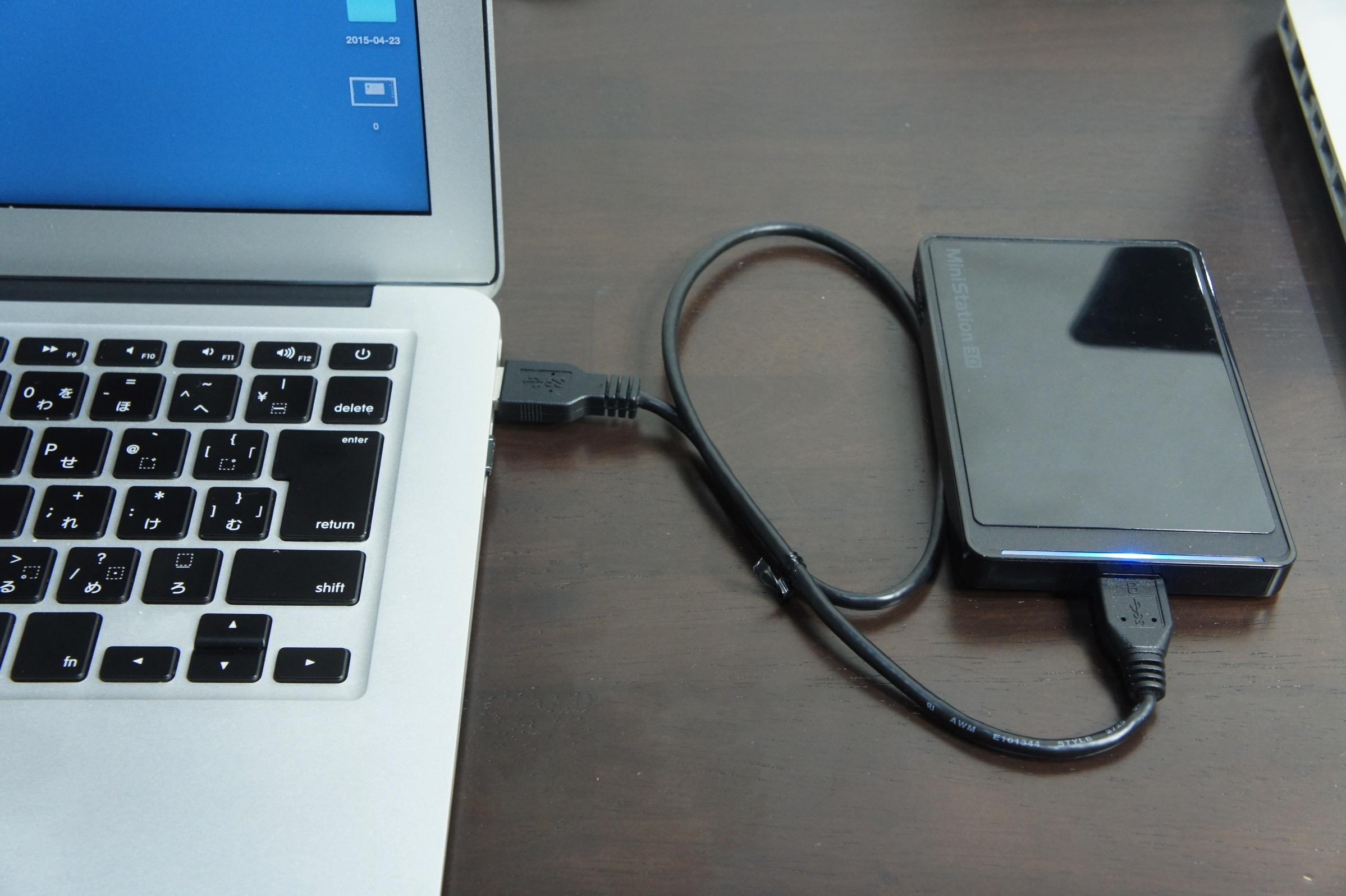 MacBookAirバックアップ