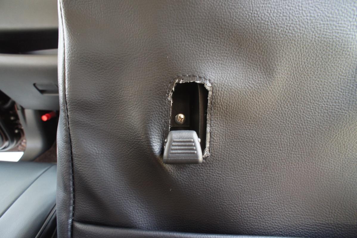 運転席側フック部分